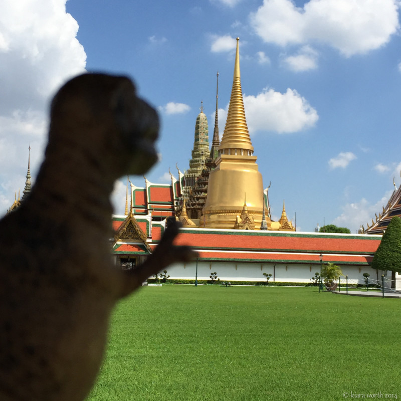 Rex overlooks the golden domes of the Grand Palace