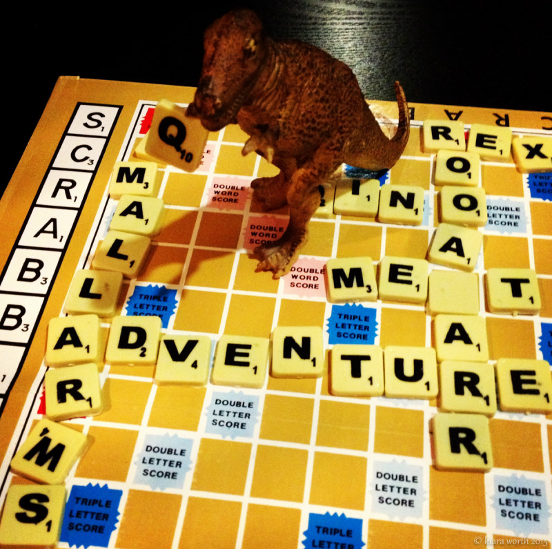 After being on a winning streak in Scrabble, Rex wonders where to put the Q